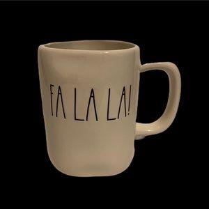 Rae Dunn Artisan Fa La La! Coffee Holiday Mug
